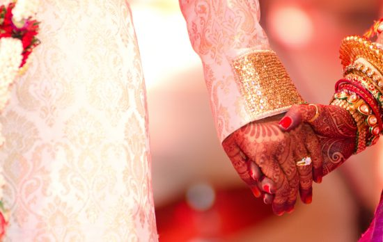 Colorful Hindu wedding in India